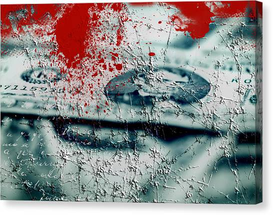 Money And Blood Canvas Print
