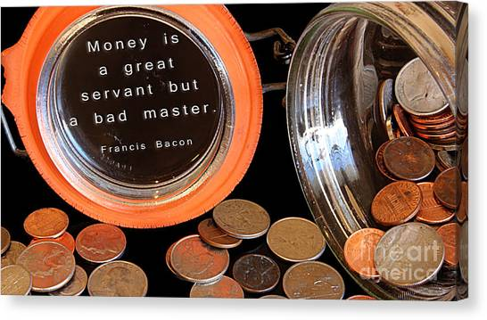 Money - The Bad Master Canvas Print