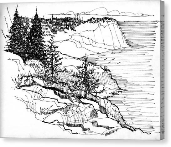 Monhegan Cliffs 1987 Canvas Print