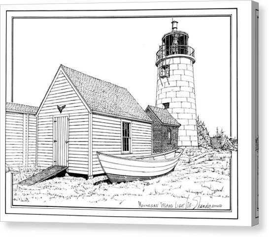 Monhegan Island Light Canvas Print