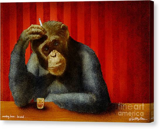 Apes Canvas Print - Monkey Bars...he Said... by Will Bullas