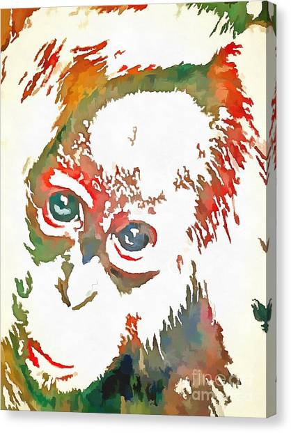 Monkey Pop Art Canvas Print