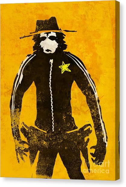 Apes Canvas Print - Monkey Sheriff by Pixel Chimp