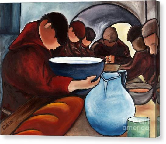 Monks At Prayer Canvas Print