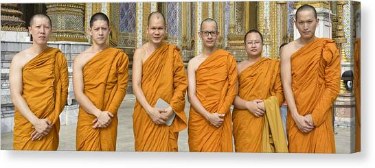 Monks At The Grand Palace Canvas Print