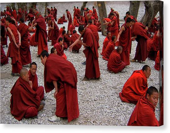 Monastery Canvas Print - Monks Debating by Yvette Depaepe