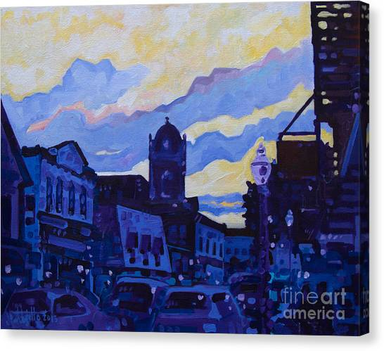 Monmouth Sunset Canvas Print