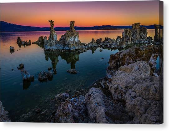 Lake Sunrises Canvas Print - Mono Lake California Sunrise by Scott McGuire