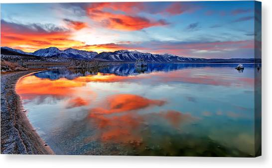 Mono Lake Sunset 3 Canvas Print