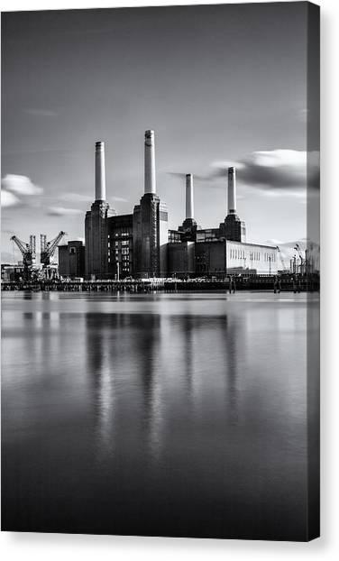 Mono Power Station Canvas Print