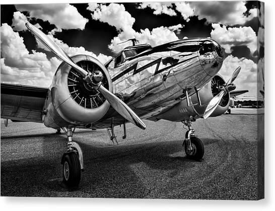 Monochrome Electra Canvas Print