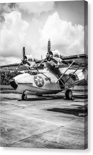 Monochrome Pby5a Canvas Print