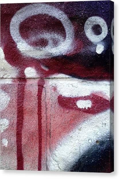 Graffiti Canvas Print - Monocle by Kreddible Trout