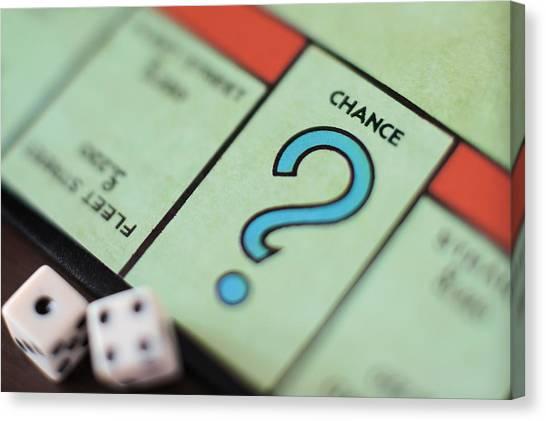 Monopoly Chance - Question Mark, Concept Canvas Print by Marco Rosario Venturini Autieri