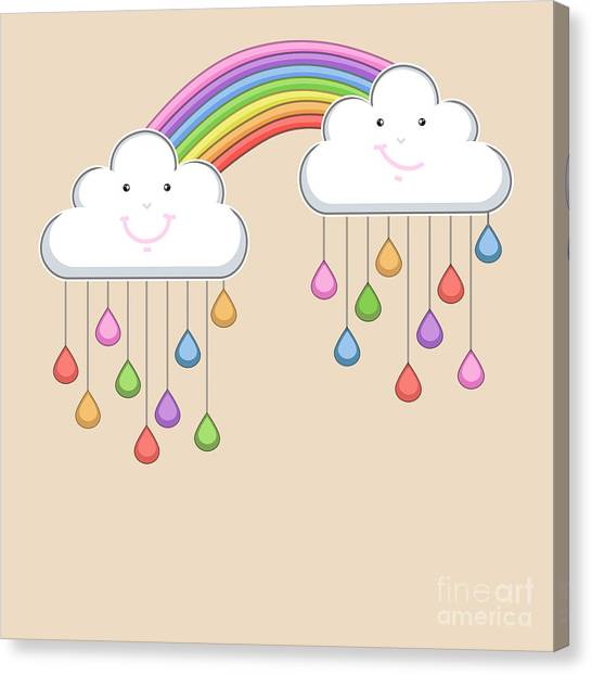 Happy Canvas Print - Monsoon Season Background With Happy by Allies Interactive