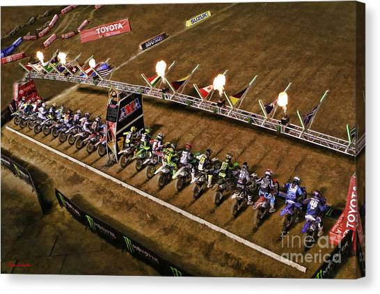 Monster Energy Ama Supercross  450sx Main Canvas Print