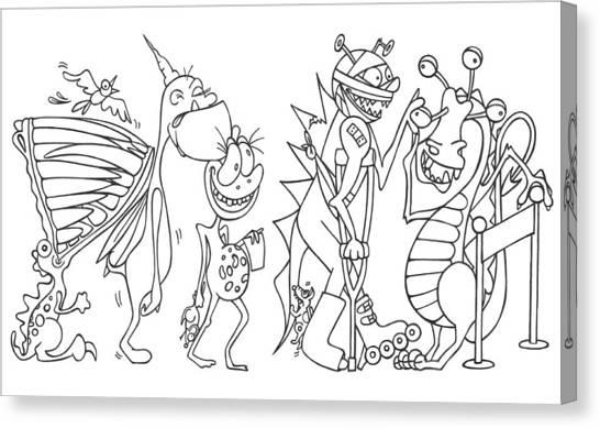 Monster  Queue Canvas Print