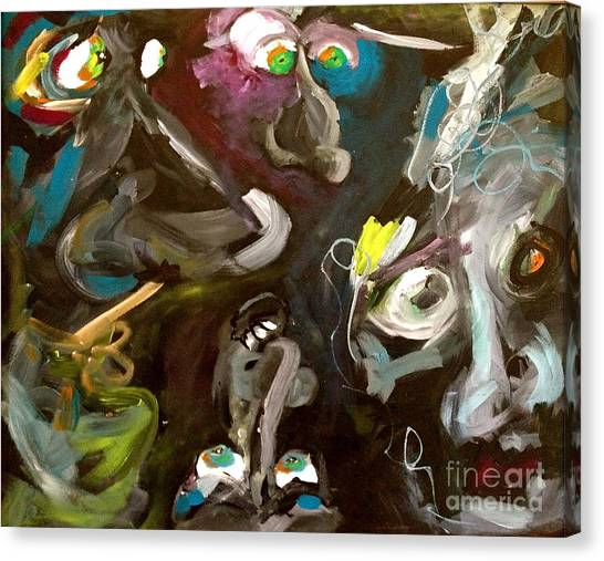 Monsters Afoot  Canvas Print by Michelle Dommer
