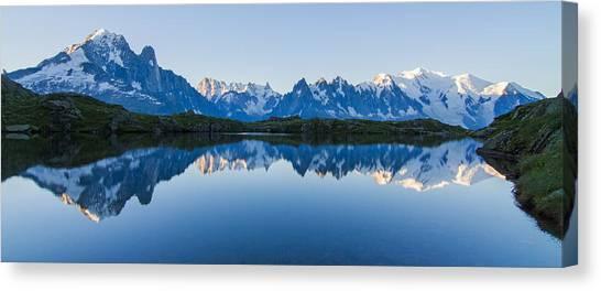 Mont Blanc Massif Panorama Canvas Print