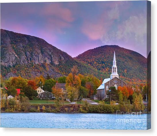 Quebec Canvas Print - Mont-saint-hilaire Quebec On An Autumn Day by Laurent Lucuix