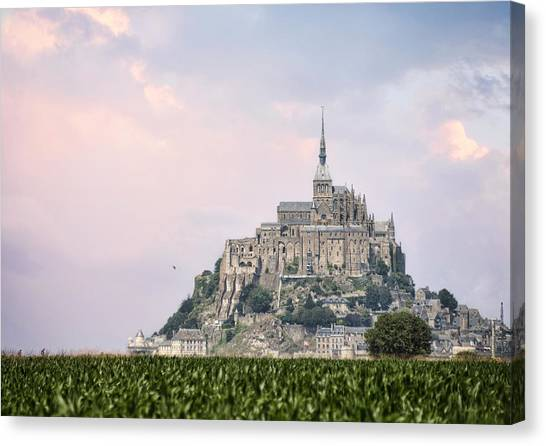Mont Saint-michel Castle Canvas Print