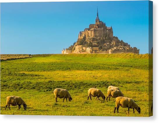Mont St-michel Canvas Print by Jean Surprenant