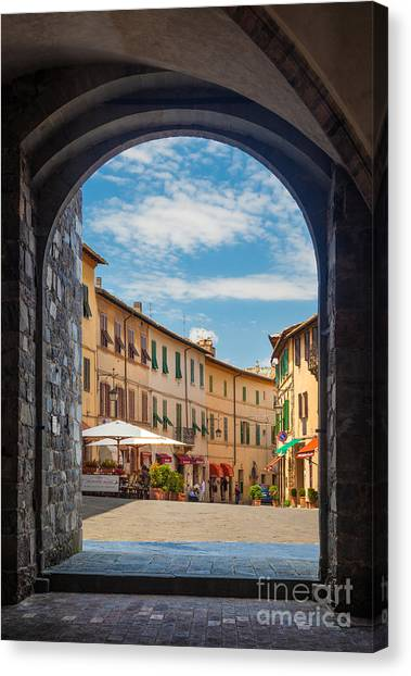 Portal Canvas Print - Montalcino Loggia by Inge Johnsson