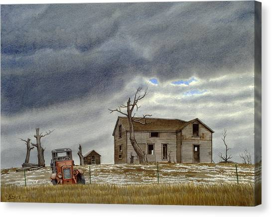Truck Canvas Print - Montana Abandoned Homestead by Paul Krapf