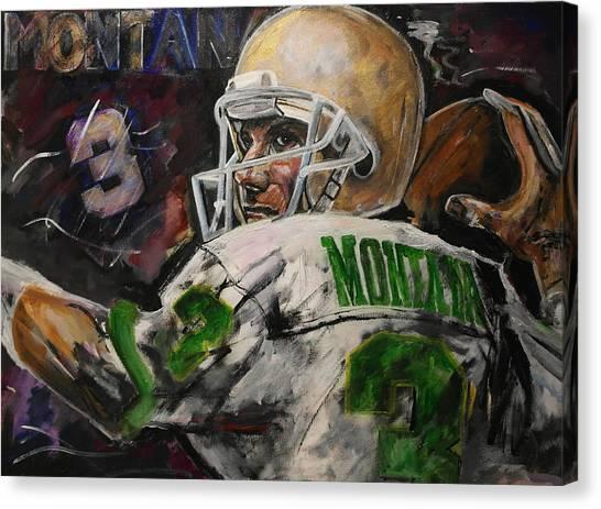 Joe Montana Canvas Print - Montana Irish Cool by John Barth
