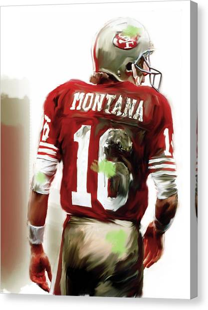 Quarterbacks Canvas Print - Montana II  Joe Montana by Iconic Images Art Gallery David Pucciarelli