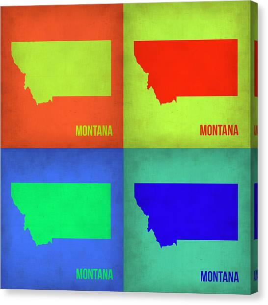 Miami Canvas Print - Montana Pop Art Map 1 by Naxart Studio