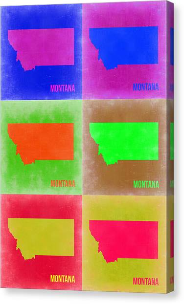 Miami Canvas Print - Montana Pop Art Map 2 by Naxart Studio