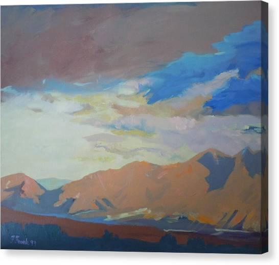 Montana Storm Canvas Print by Francine Frank