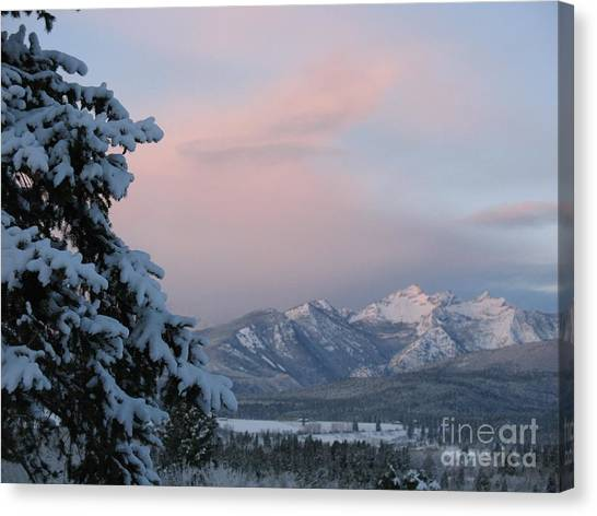 Montana Winter Canvas Print