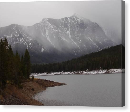 Montana Winter Canvas Print by Yvette Pichette
