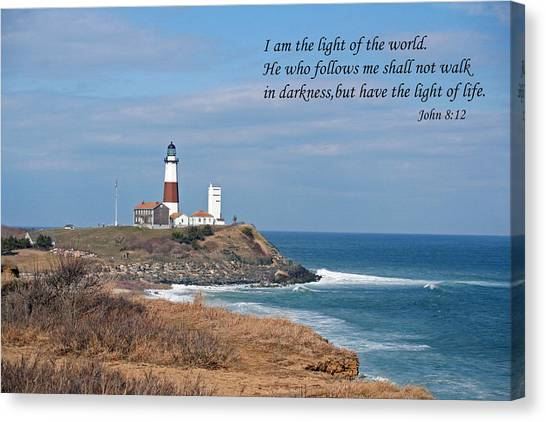 Montauk Lighthouse/camp Hero/inspirational Canvas Print