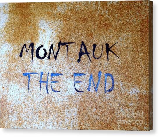 Montauk-the End Canvas Print
