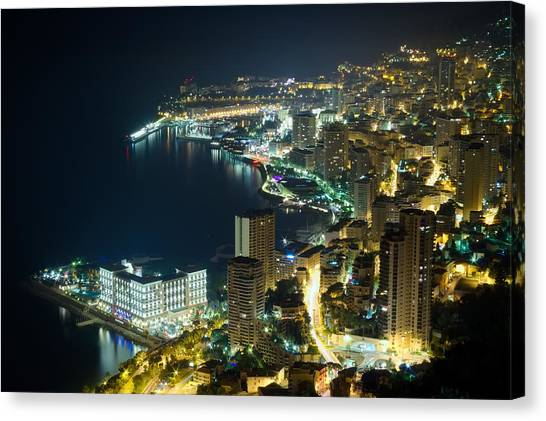 Monte Carlo By Night  Canvas Print by Ioan Panaite