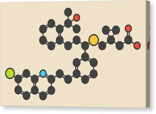 Chronic Canvas Print - Montelukast Drug Molecule by Molekuul