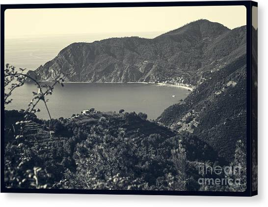 Monterosso Al Mare From Above Canvas Print