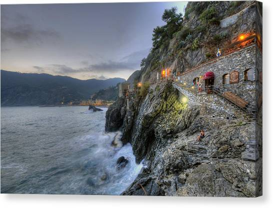 Monterosso At Sunset Canvas Print
