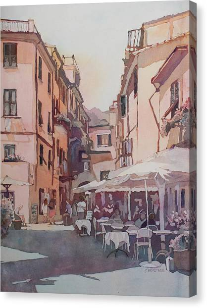 Monterosso Cafe Canvas Print