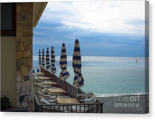 Monterosso Outdoor Cafe Canvas Print
