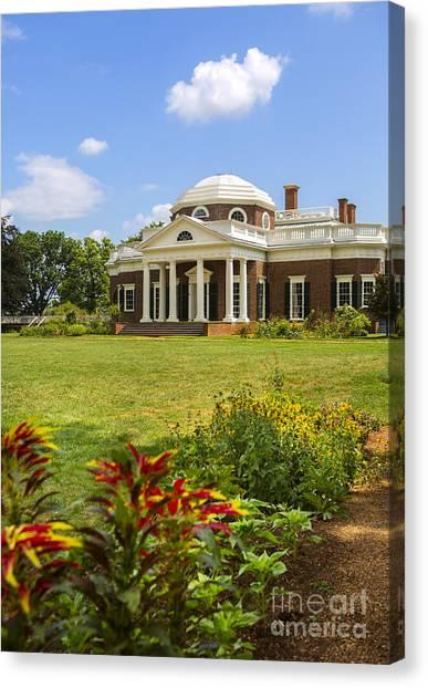 President Jefferson Canvas Print - Monticello by Diane Diederich