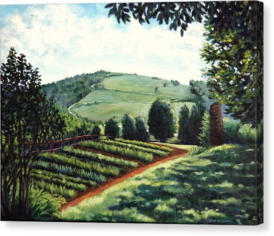 Monticello Vegetable Garden Canvas Print