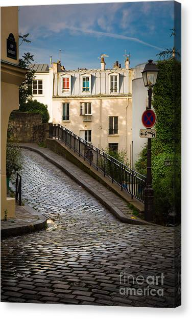 Europa Canvas Print - Montmartre Alley by Inge Johnsson