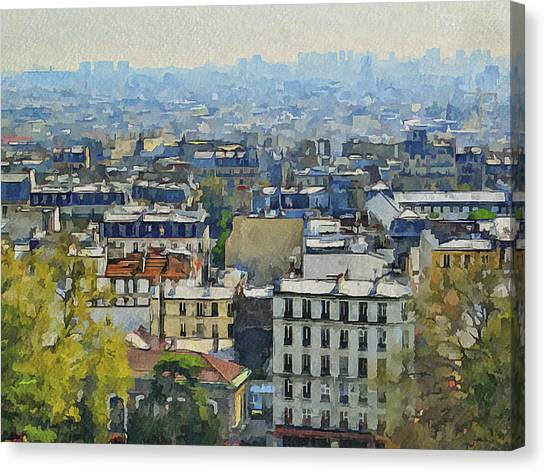 Montmartre View Canvas Print by Yury Malkov