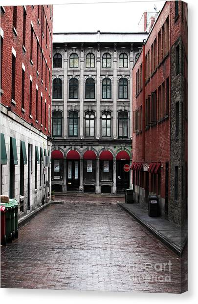 Montreal Alley Canvas Print by John Rizzuto