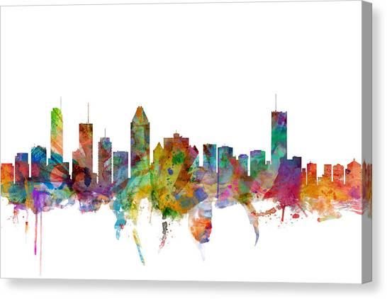 Canada Canvas Print - Montreal Canada Skyline by Michael Tompsett
