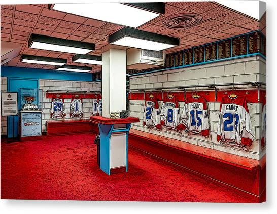 Montreal Canadians Hall Of Fame Locker Room Canvas Print
